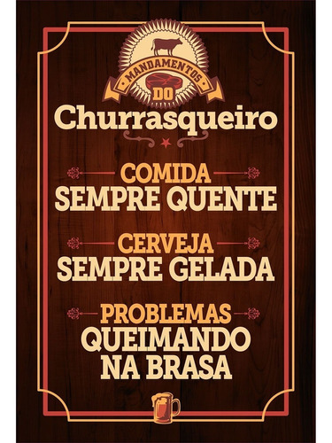 placa - quadro - decorativo - churrasco - (v539)