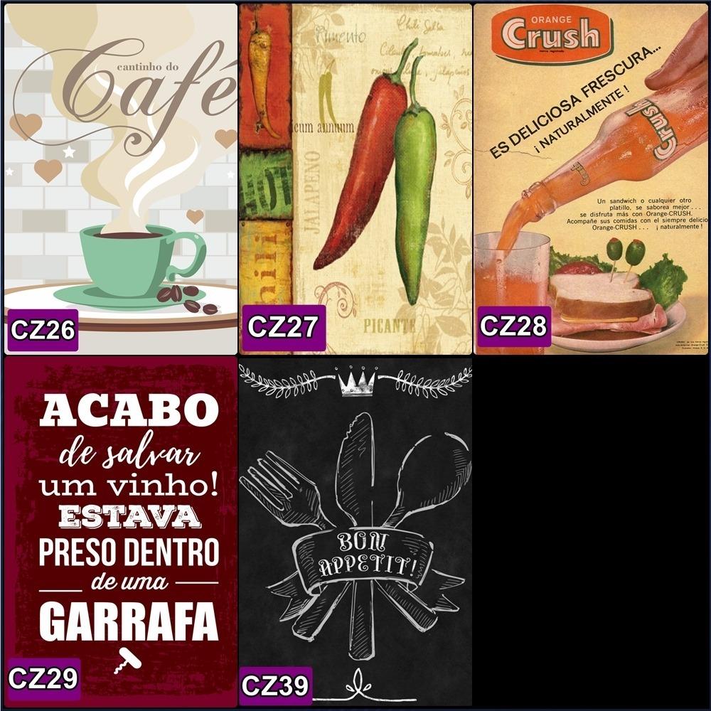 Placa Quadro Fu Cozinha Gourmet Frase Vintage Retro R 7 00 Em