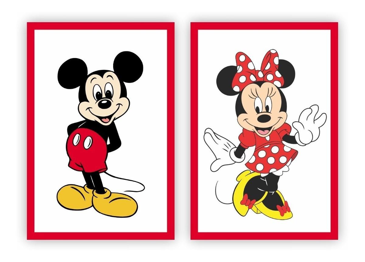 Placa Quadro Mdf 45x60cm Desenho Mickey Minnie Disney R 99 90