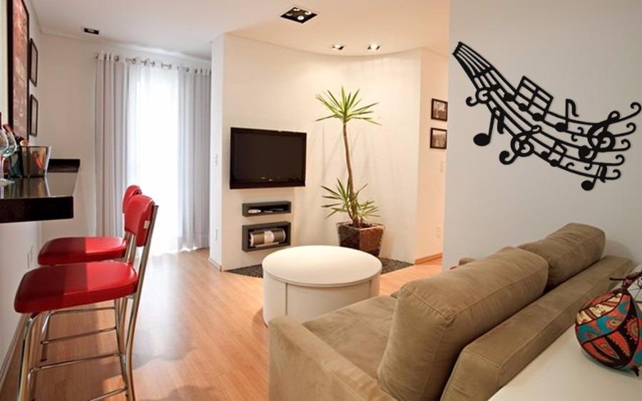 Sala De Estar Wdk Letra ~  Musicais Acrílico Decoração Parede Sala  R$ 69,90 em Mercado Livre