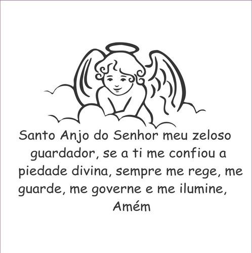 placa - quadro oração santo anjo - para menino ou menina