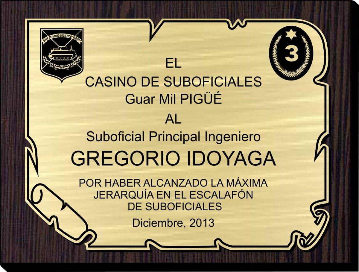 Placas de reconocimiento - Placa de madera ...