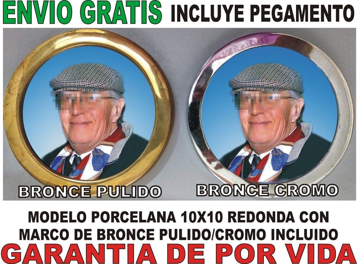 Placa Recordatoria Cementerio 10x10 Porcelana Marco Bronce - $ 1.100 ...