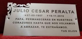 Placa Recordatoria Cementerio 25x12 Angulo Calado Acero Inox