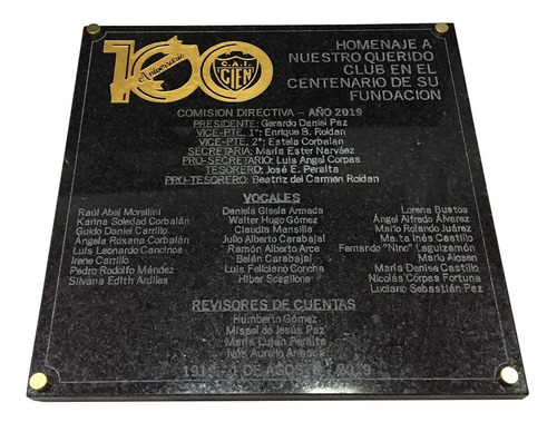 placa recordatoria de mármol, aniversarios,egresados 60x30cm