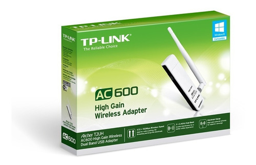 placa red inalámbrica tp link archer t2uh usb ant omni 3dbi