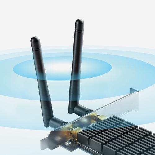 placa red pci e wifi tp link archer t6e ac1300 dual band hd