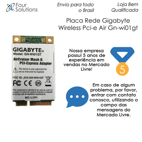 placa rede gigabyte wireless pci-e air gn-wi01gt