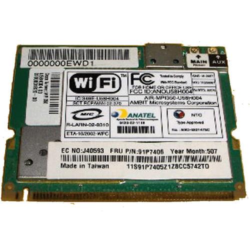 placa rede pci wireless wi-fi travelmate 230 91p7406