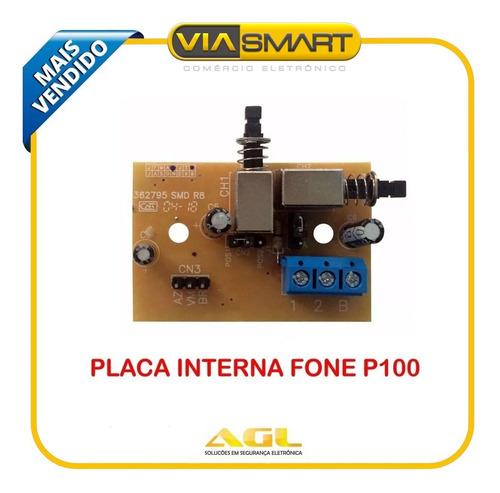 placa reposição interfone atendimento agl p100