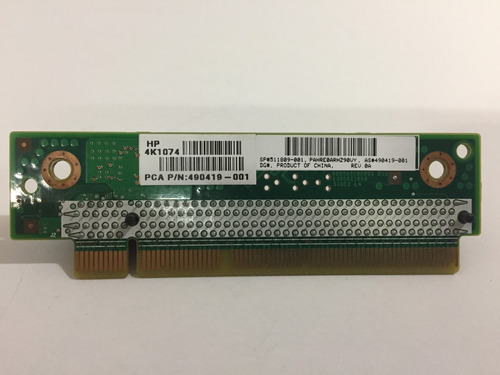 placa riser hp card pcie dl120/dl160/dl320 g6 -pn 511809-001