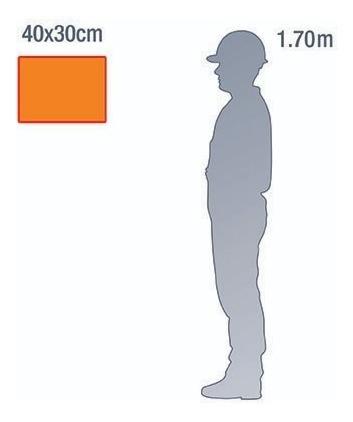 placa rótulo risco e onu - 40x30cm - pvc 3mm - kit 10 unid