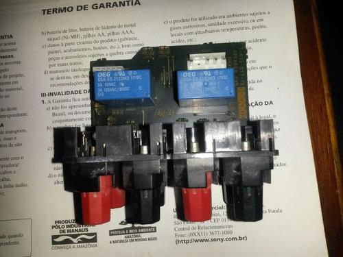 placa saida potencia caixas frontais receiver sony str-dg910