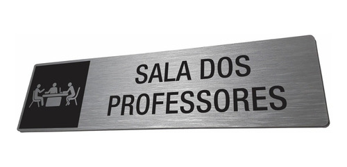 placa sala professores escola identificação personalizada