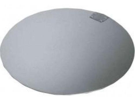 placa salva bolo redonda alumínio