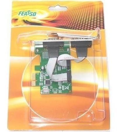 placa serial feasso pci-ex 2 portas c/ perfil baixo