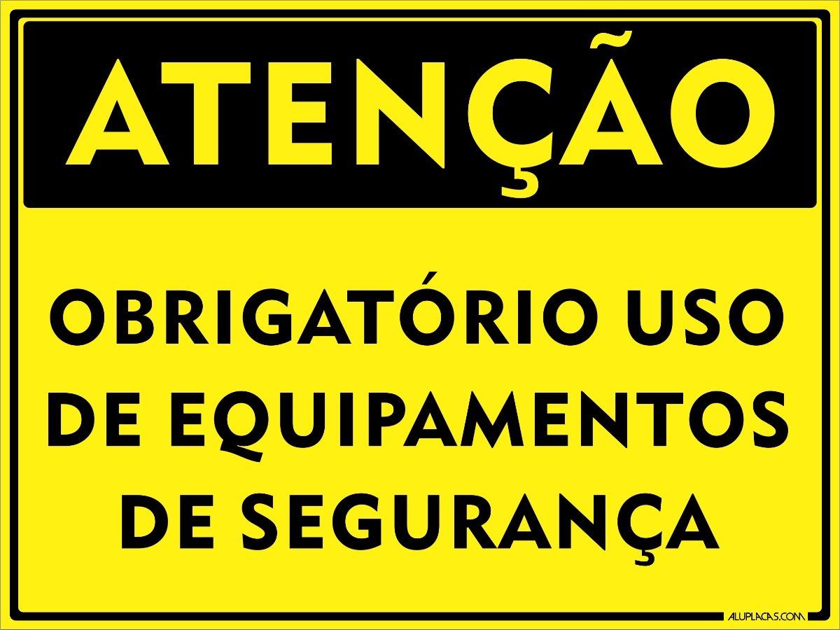 45e22f73485b8 placa sinalização atencao obrigatório uso epi 30x20cm alumin. Carregando  zoom.