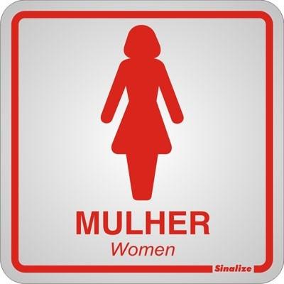 placa sinalização auto adesiva banheiro feminino mulher dama
