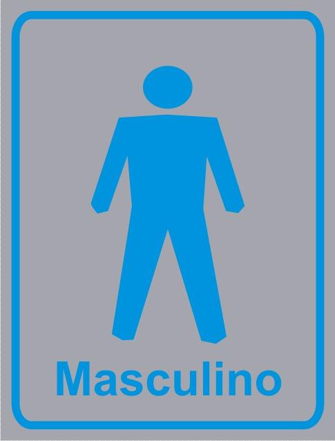 Placa Sinalização Banheiro Masculino  R$ 9,00 em Mercado Livre -> Banheiro Feminino Banheiro Masculino