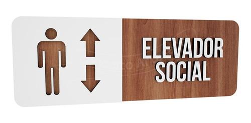 placa sinalização elevador social hotel consultório empresa