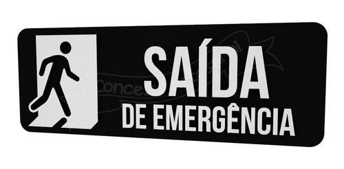 placa sinalização preta saída de emergência restaurante bar