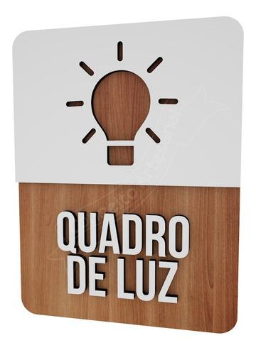 placa sinalização quadro de luz hotel buffet comercio bar