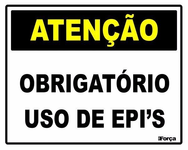 Placa Sinalização Uso Obrigatório De Epi s Segurança Do Trab - R  15 ... 91c999ec67