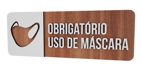 placa sinalizadora estabelecimento obrigatório mascara