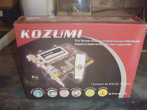 placa sintonizadora / capturadora de tv y fm kozumi