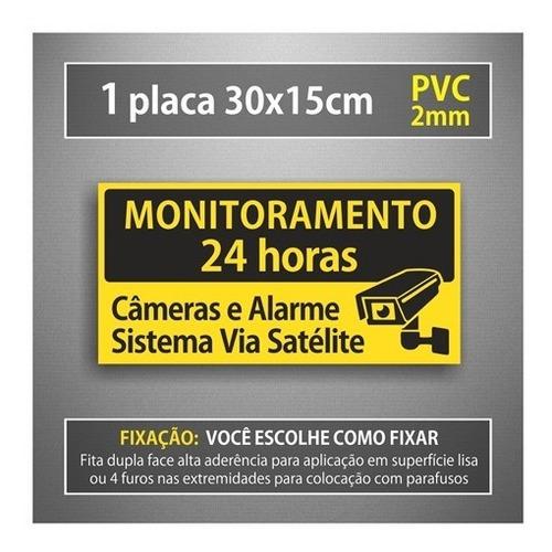 placa sistema monitoramento câmera segurança 24 horas