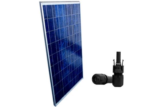 placa solar painel solar 12v 150w + conector mc4 + manual