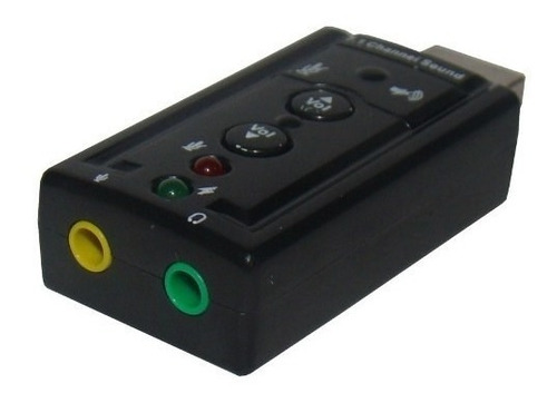 placa som externa 7.1 com controle volume