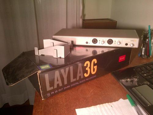 placa sonido grabación multipista layla 3g
