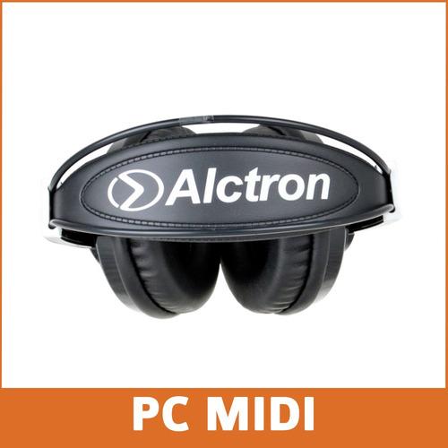 placa sonido usb midiplus studio m + auricular hp280 cerrado