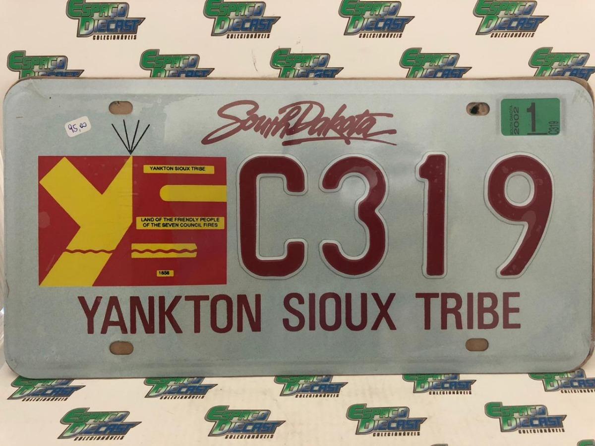 Placa South Dakota Sioux Metálica Carro Eua Usa Decorativa