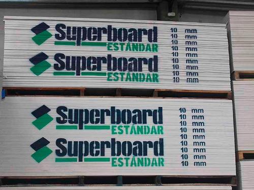 placa superboard 10mm 1,20 x 2,40 cementicia - maderwil