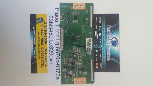 placa t-con lg 32ls3450 lc320exn 6870c-0370a