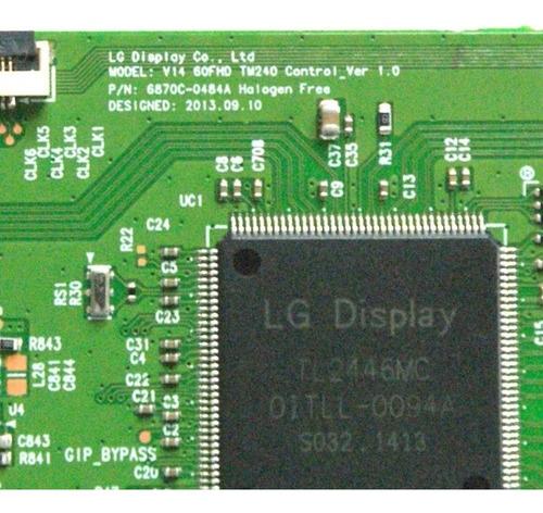 placa t-con lg 60lb6500 6870c-0484a original nova