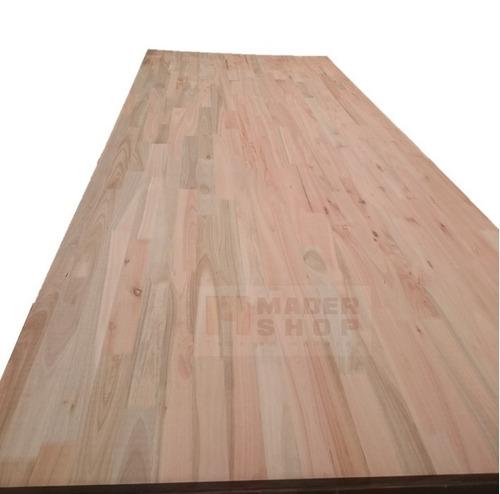 placa-tablero euca alistonado- sin nudos 2 cm x 1,22 x 3 mts - mader shop