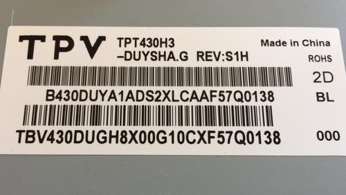 placa tcom tv aoc le43d1452 6870c-0532a