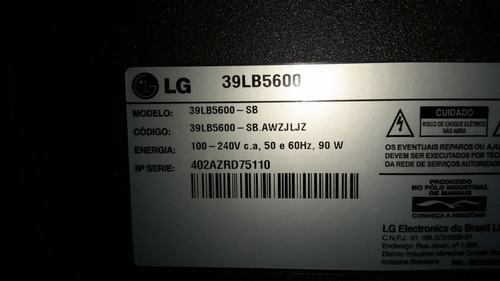 placa tcom tv lg 39lb5600