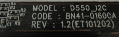 placa teclado função bn41-01600a samsung pl51d490 pl51d491