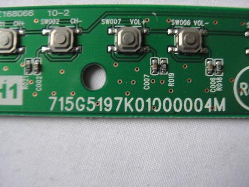 placa teclado funções 715g5197k01000004m sony kdl40bx455