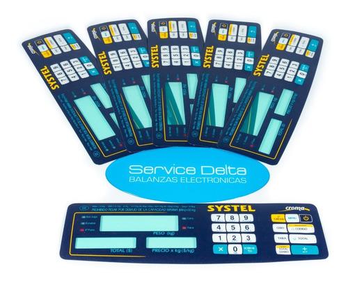 placa teclado systel croma clipse original nueva 100% service delta