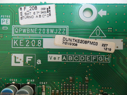 placa tuner tv lcd sharp lc-52r64b (ke208) (qpwbne208wjzz)