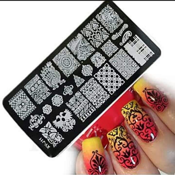 Placa Uñas Sellos Manicure Decoracion 6x12cm Stamp