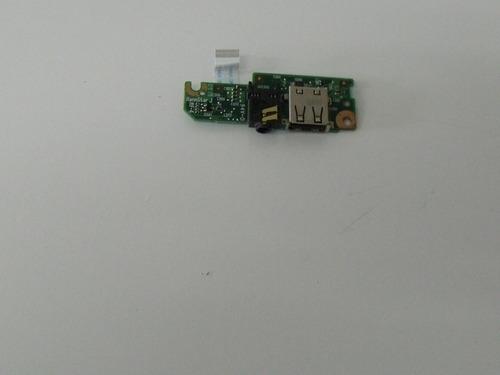 placa usb / audio netbook hp mini 110-1045 com flat