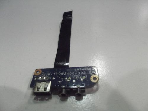 placa usb áudio w240bu 6-71-w2408-d03 itautec infoway a7420