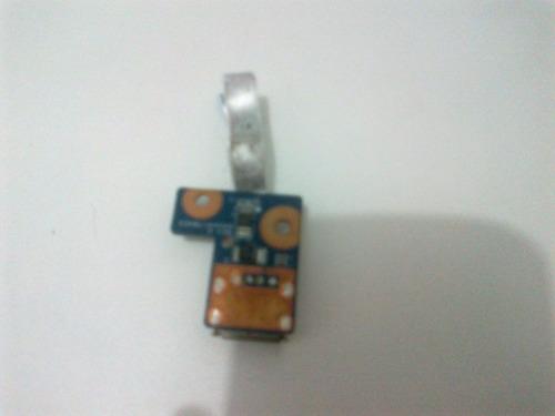 placa usb com flat hp g42 g62 cq56 cq62 daoax1tb6eo
