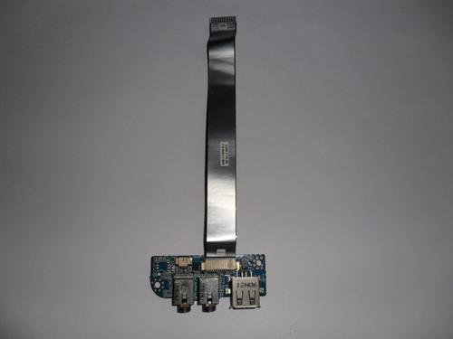 placa usb e audio c/ flat  notebook itautec  a7520  original
